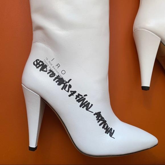 iro shoes  new rare iro feels graffiti mod leather boots